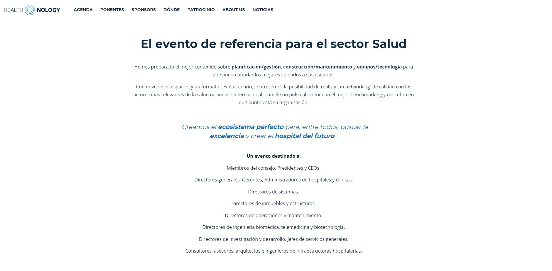 Evento Médico Healthnology 2019